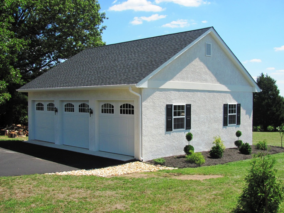 Garages by opdyke custom built to match your home for Custom build your home