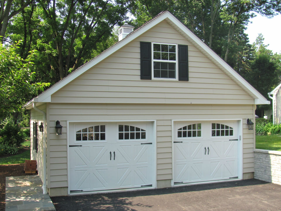 2 car garages garages by opdyke for Two car garage shed